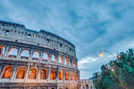 The Colosseum, or the Coliseum, originally the Amphitheatrum Flavium, an elliptical amphitheatre in Rome, Italy