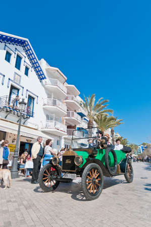 josep: SITGES, SPAIN - MARCH 11: Josep Maria Piera drives a 1913 Ford T on the second phase of the 54th Rally of Ancient Cars Barcelona-Sitges on March 11, 2012 in Sitges, Spain.