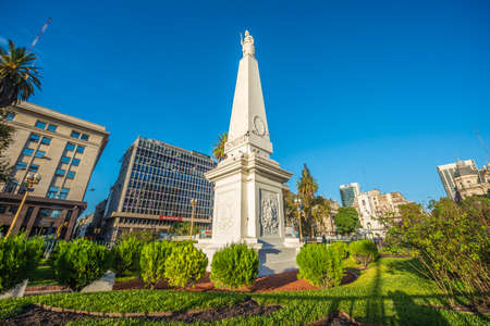 plaza: The Piramide de Mayo (May Pyramid), on Plaza de Mayo square is the oldest national monument in the City of Buenos Aires, Argentina.