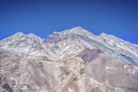 horcones: Aconcagua, la montagna pi� alta delle Americhe a 6.960m, situato nella Cordigliera delle Ande a Mendoza, Argentina. Archivio Fotografico