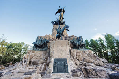 mendoza: Monument to the Army of the Andes at the top of the Cerro de la Gloria at the General San Martin Park, inaugurated on February 12, 1914, anniversary of the Battle of Chacabuco in Mendoza, Argentina.