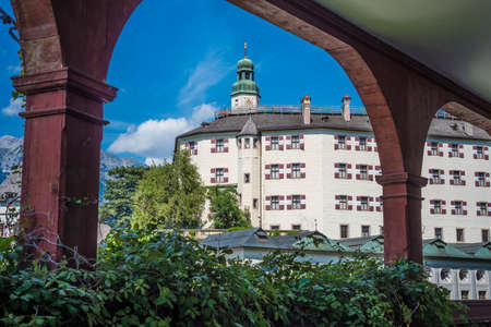 sixteenth: Ambras Castle (Schloss Ambras) a Renaissance sixteenth century castle and palace located in the hills above Innsbruck, Austria.