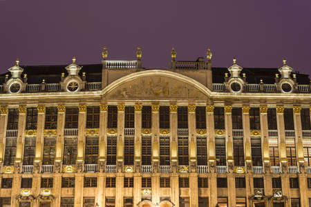 historic place: Guildhalls on Grand Place (Grote Markt), the central square of Brussels, its most important tourist destination and the most memorable landmark in Brussels, Belgium.
