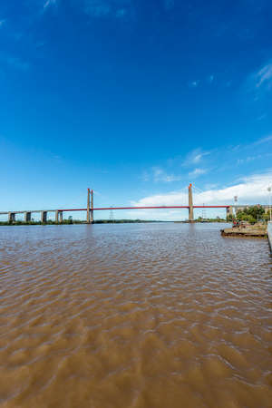 entre: The Zarate Brazo Largo Bridges are two cable-stayed road and railway bridges in Argentina, crossing the Parana River between the cities of Zarate, Buenos Aires, and Brazo Largo, Entre Rios. Editorial