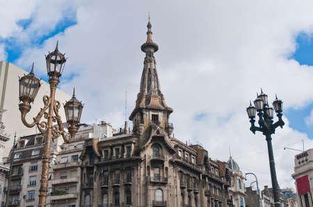 Famous old building known as Confiteria El Molino on Congreso Square