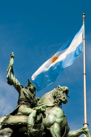 manuel: Monument of Manuel Belgrano, the creator of the argentinian flag. Editorial
