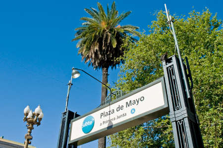 buenos aires: Buenos Aires metro entrance. Editorial