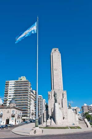 argentina flag: Main tower of the Monumento a la Bandera located at Rosario city. Editorial