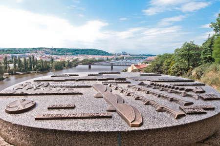 vltava: Vltava river as seen from Vysehrad Castle Editorial