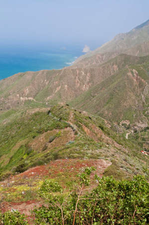 dominant color: View of Taganana, located at Tenerife Island