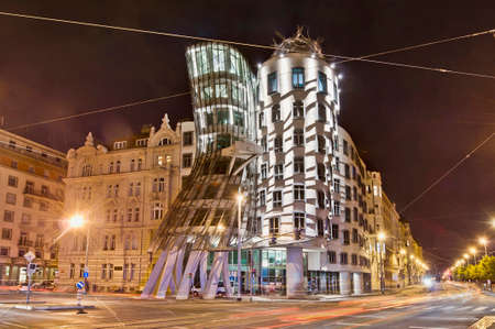 dancing house: Dancing House Building Facade located at Prague