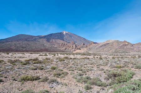 dominant color: Ucanca Plains with mount Teide behind, tenerife Island