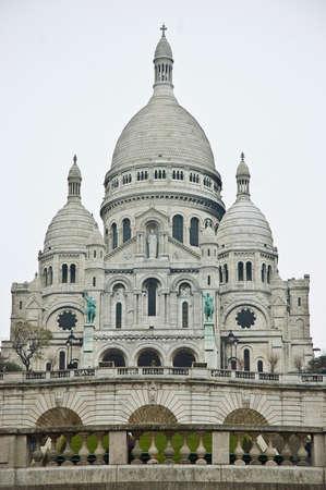 coeur: Sacre Coeur located at Montmartre at Paris, France