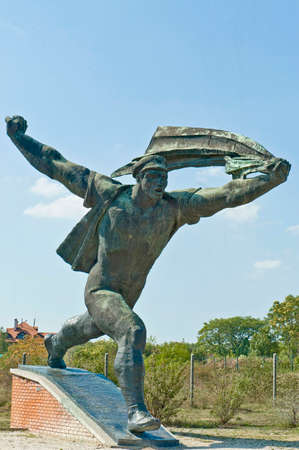 dictatorship: Statue Park, Gigantic Monuments From the Age of Comunist Dictatorship at Budapest, Hungary Stock Photo
