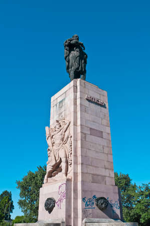artigas: Artigas statue at Palermo Neigborhood in Buenos Aires, Argentina Stock Photo