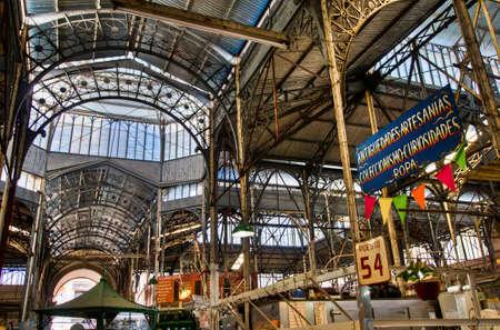 buenos: San Telmo market interior metallic structure