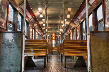 1900s Buenos Aires subway wagon interior