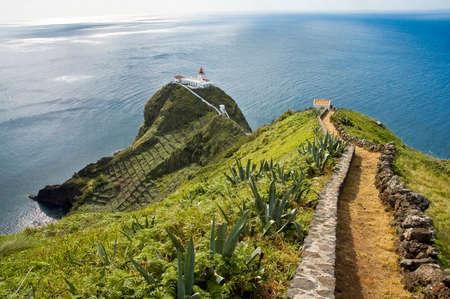 isla: Lighthouse at Santa Maria Island, Azores.