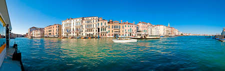waterbus: Canal Grande view from Salute waterbus station in Vencie, Italy Stock Photo