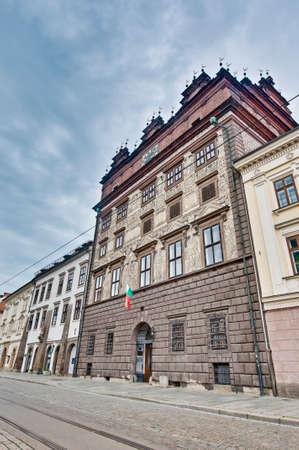 cityhall: Pilsen Cityhall renaissance building facade