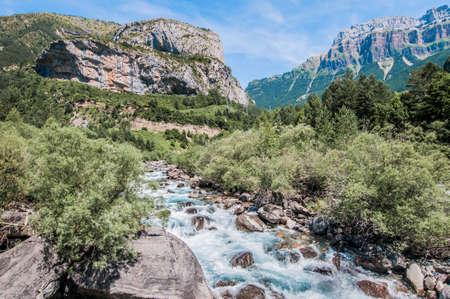 espanya: Ordesa y Monte Perdido National Park located at Aragón province, Spain Stock Photo
