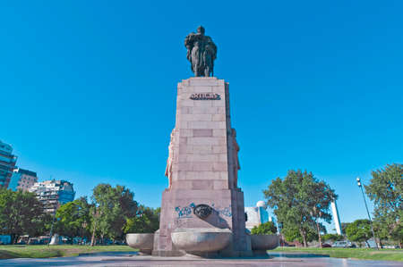 artigas: Artigas statue at Palermo Neigborhood in Buenos Aires, Argentina Editorial