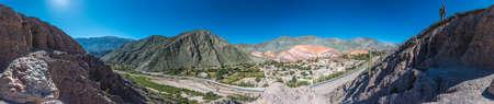 siete: Cerro de los Siete Colores (The Hill of Seven Colors) behind Purmamarca village