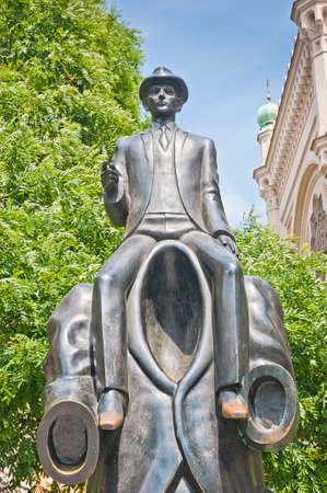 franz: Franz Kafka statue located near the Spanish Synagogue Editorial