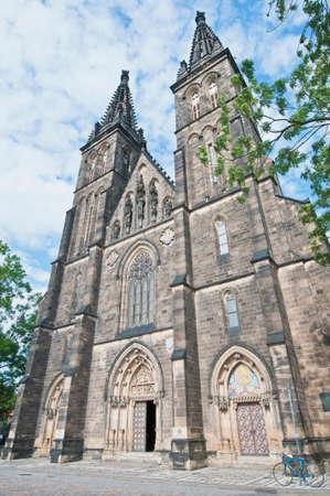 paul: Saint Peter and Saint Paul church facade at Prague