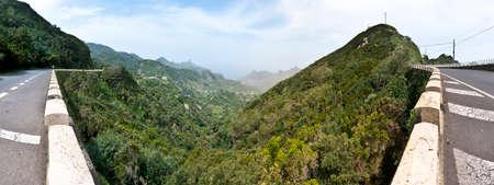 dominant color: Bailadero route viewpoint 14 kilometers from Cristobal de la Laguna Stock Photo