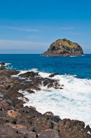 dominant color: Roque de Garachico at Tenerife Island