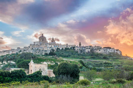 saint pauls cathedral: Saint Pauls Cathedral designed by the architect Lorenzo Gafa in Mdina, Malta