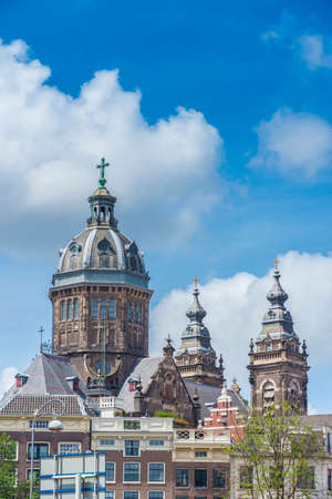 patron: Church dedicated to Saint Nicholas, patron saint of Amsterdam in Netherlands