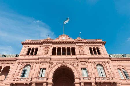 dominant color: Casa Rosada building facade located at Mayo square.