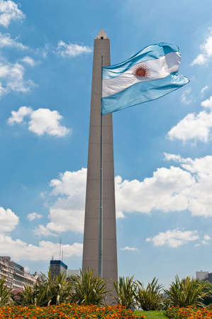 obelisc: The Obelisco, Located at 9 de Julio Avenue is the most known Argentinian landmark.