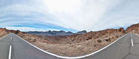 dominant color: San Jose mines located near Teide Mount, Tenerife Island Stock Photo