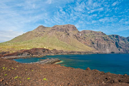 dominant color: View from Punta del Teno, Tenerife Island Stock Photo