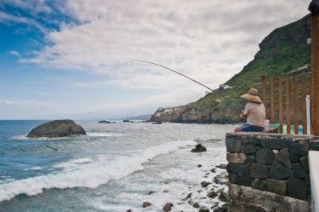 dominant color: Fisherman at San Juan de la Rambla, Tenerife Island