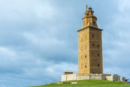metres: Tower of Hercules, the almost 1900 years old and rehabilitated in 1791 55 metres tall structure is the oldest Roman lighthouse in use today and overlooks the Atlantic coast of Spain from A Coruna.