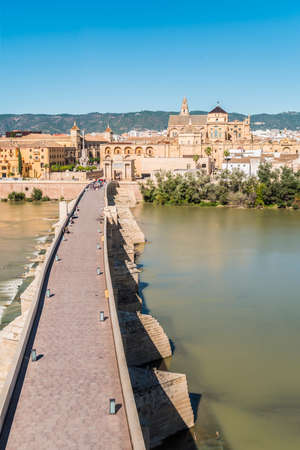 1st century: Roman bridge, built in the early 1st century BC across the Guadalquivir river in the Historic centre of Cordoba, Andalusia, southern Spain.