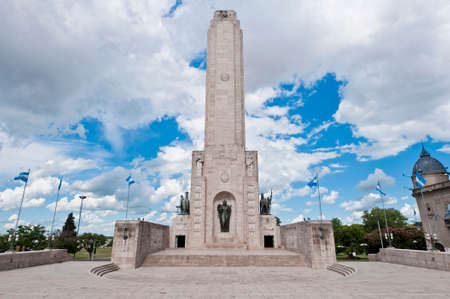 Main tower of the Monumento a la Bandera located at Rosario city. Фото со стока