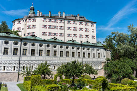 archduke: Ambras Castle (Schloss Ambras) a Renaissance sixteenth century castle and palace located in the hills above Innsbruck, Austria.