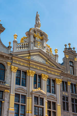 guildhalls: Opulent guildhalls surrounds the Grand Place or Grote Markt, the central square of Brussels in Belgium.