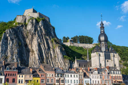 walloon: Fortified Citadel, first built in the 11th century to control the Meuse valley in Dinant, Belgium Editorial