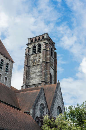 walloon: Saint Brise Church facade in Tournai, Belgium Editorial