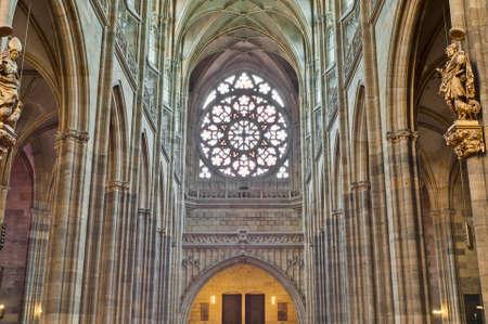 vitus: Interior of Saint Vitus Cathedral within the Castle of Prague