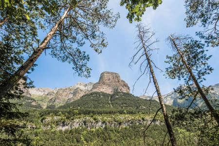 perdido: Ordesa y Monte Perdido National Park located at Aragón province, Spain Stock Photo