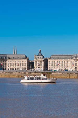 palais: Palais de la Bourse located at Bordeaux, France