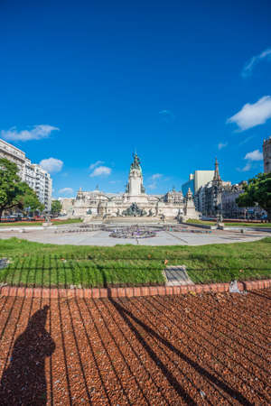 congressional: Congressional Plaza (Plaza Congreso), a public park facing the Argentine Congress in Buenos Aires, Argentina