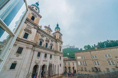 17th: SALZBURG, AUSTRIA - JULY 31, 2014: The Salzburg Cathedral (Salzburger Dom) is a 17th century baroque cathedral dedicated to Saint Rupert in Salzburg, Austria.